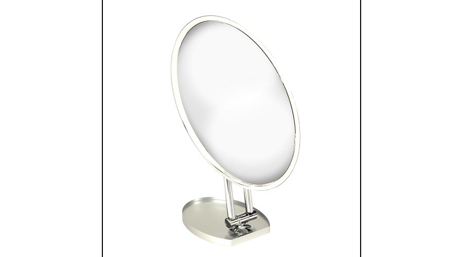 Mirror: Chrome Countertop Adj. Rotating Oval 269 X 194Mm