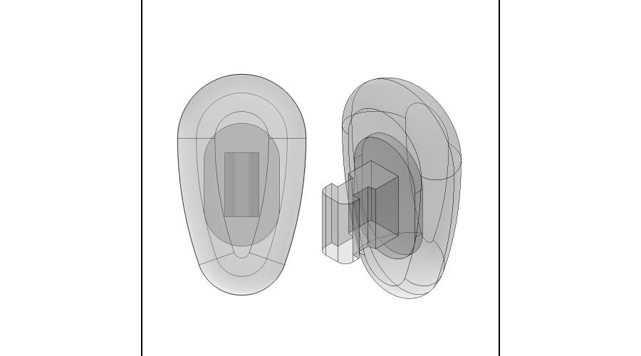 NOSE PADS: 15MM CRYSTAL, PUSH-ON, 3 PR.