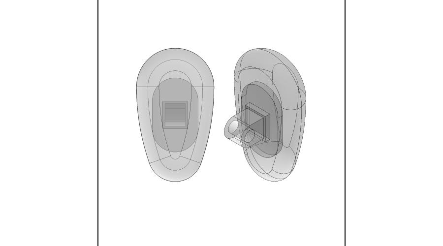 NOSE PADS: 15MM CRYSTAL, SCREW-ON, 3 PR.
