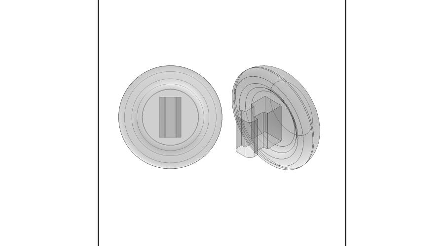 NOSE PADS: 9MM CRYSTAL, PUSH-ON, 3 PR.