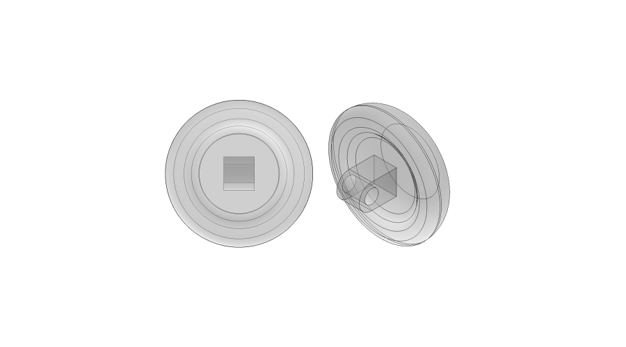 NOSE PADS: 9MM CRYSTAL, SCREW-ON, 3 PR.