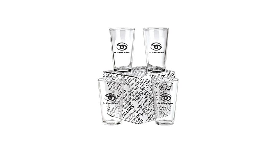 PERSONALIZED 16 OZ. MIXING GLASSES