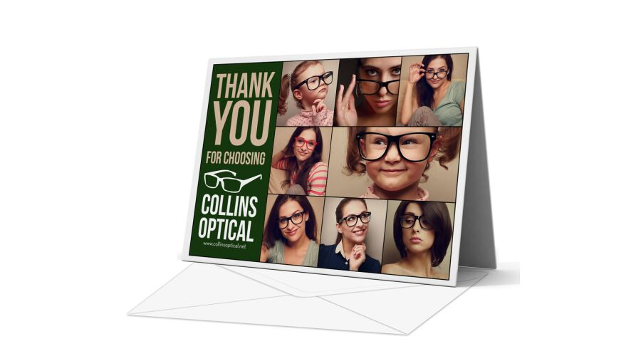 PERSONALIZED GREETING CARD AND ENVELOPE