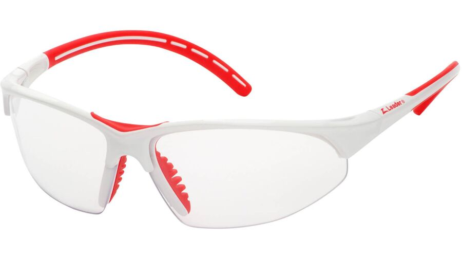 PRO SPORT,CLEAR AF LENS/WHITE FRAME,RED ACCENTS