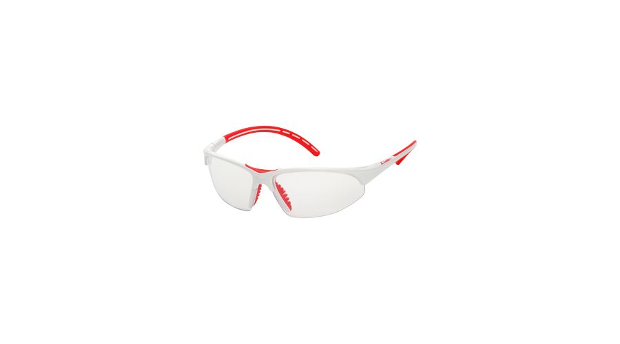 PRO SPORT,SILVER MIRROR LENS/WHITE FRAME,RED ACCENTS