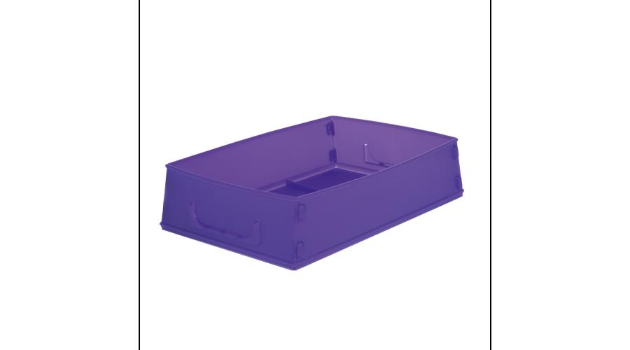 PURPLE FLAT PACK RX JOB TRAYS - 10PCS