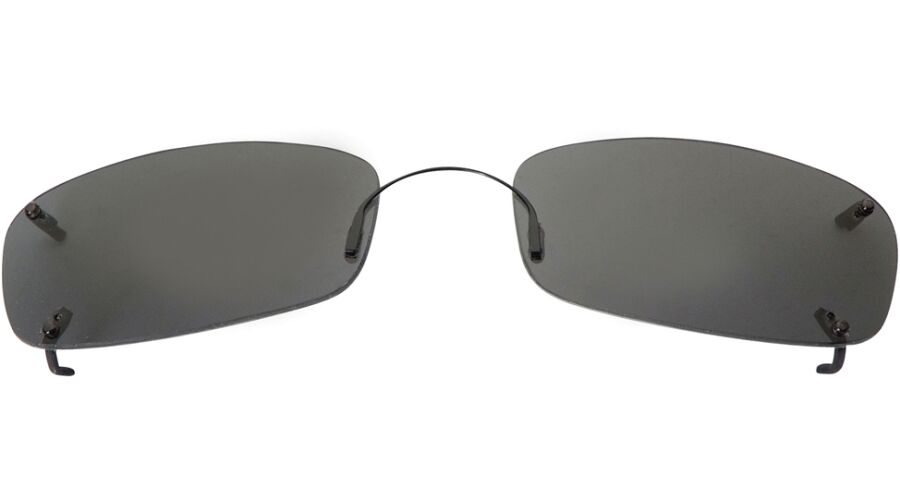 RIMLESS SUNCLIPS: LOW RECT 58, GRAY