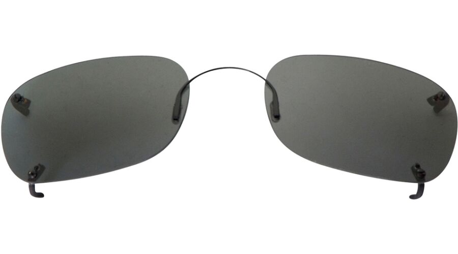 RIMLESS SUNCLIPS: RECTANGLE 56, GRAY