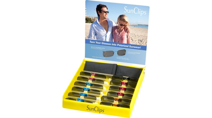 RIMLESS SUNCLIPS STARTER KIT W/ 12 PIECE PRE-SELECTED ASSORT