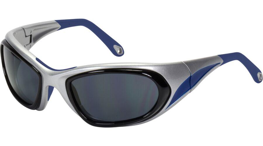 RX SUN - CIRCUIT FLEX XL SHINY SILVER/BLUE W/GRAY LENS