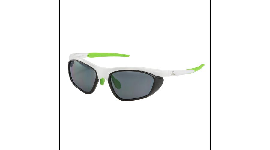 RX SUN - PELETON  SHINY WHITE/LIME GREEN W/GRAY LENS