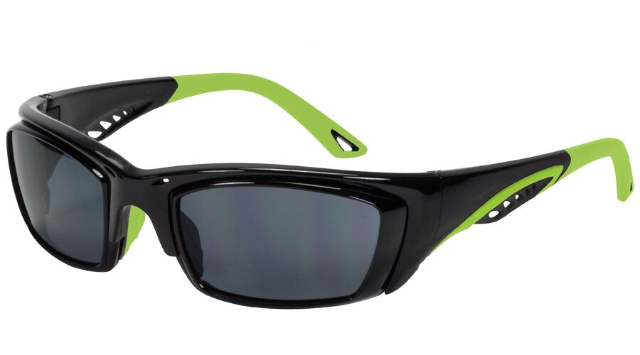 RX SUN - PIT VIPER SHINY BLACK/LIME GREEN BASIC PACKAGE
