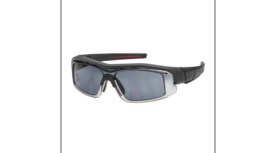 RX SUN - SUNFORGER  MATTE BLACK/RED W/GRAY LENS