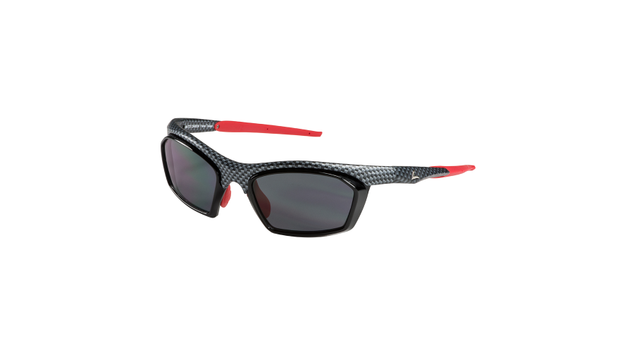 RX SUN - TRACKER MATTE CARBON/RED WITH GRAY LENS