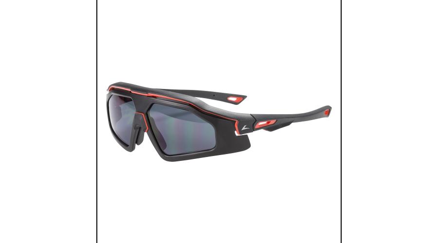 RX SUN - TRAIL BLAZER MATTE BLACK/RED W/GRAY LENS