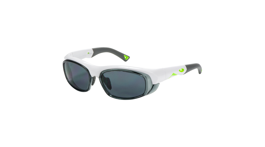 RX SUN -ORACLE SHINY WHITE/NEON GREEN W/GRAY LENS