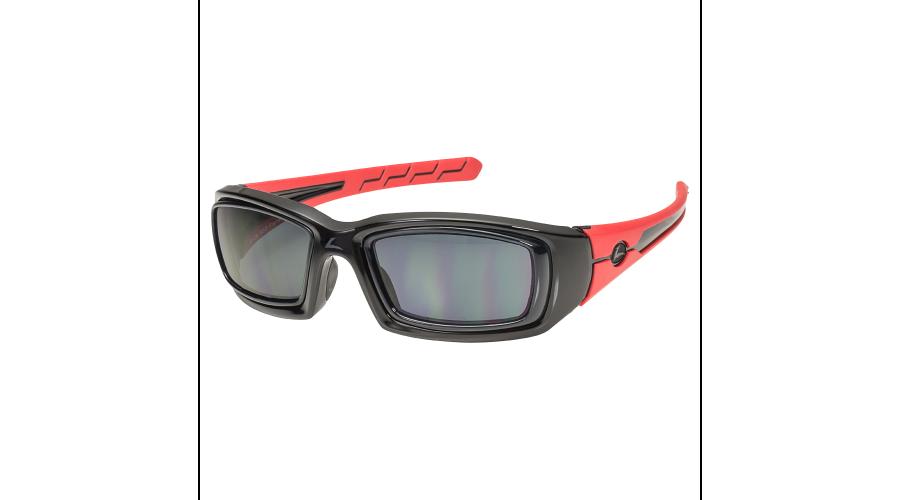 RX SUN -RATTLER BLACK/RED W/GRAY LENS