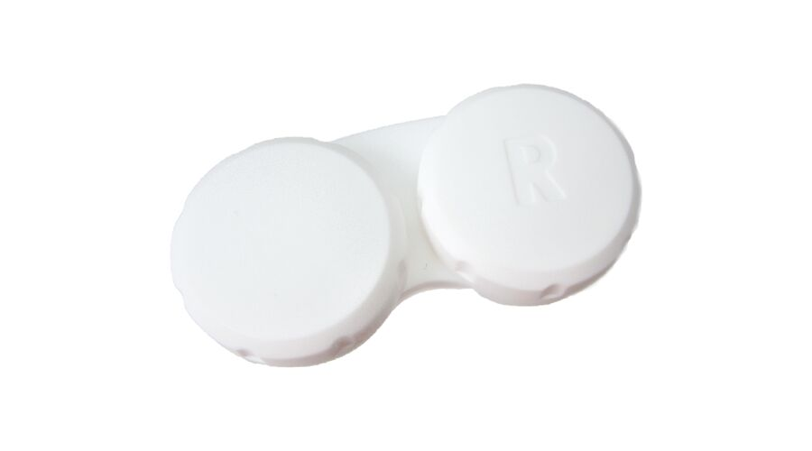 SCREW-TOP CONTACT CASES  WHITE, BAG OF 100