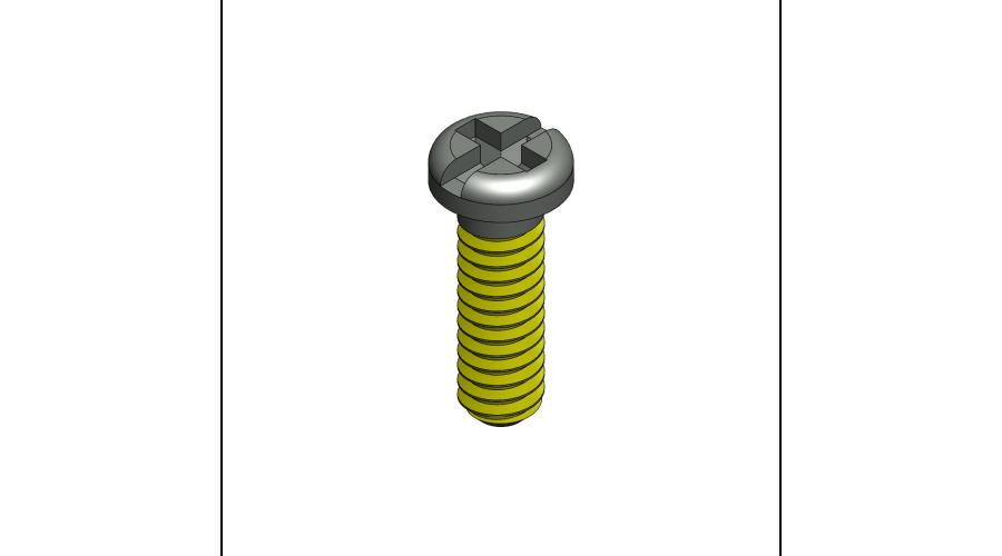 SCR:SAFE-LOK,+/-,1.4X3.5 2.0 HEAD,BLK-250