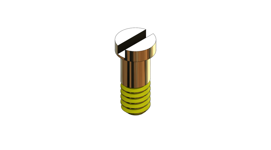 SCR:SAFE-LOK,1.16 X 3.35 GOLD,COATED,25PC
