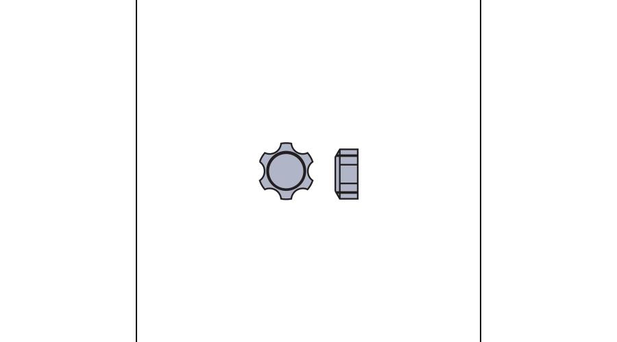 STAR NUT:1.6MM,SIL-25