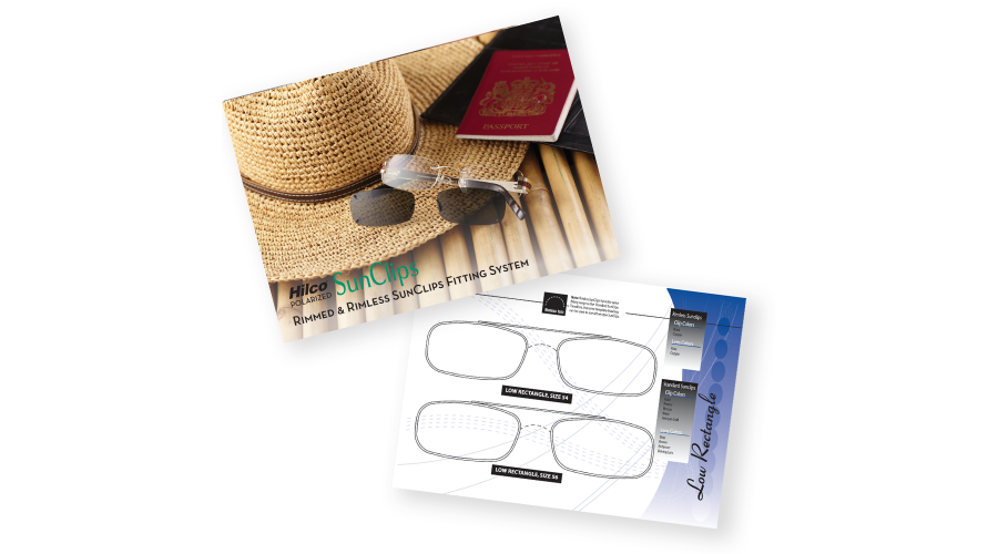 SUNCLIPS FITTING GUIDE FOR RIMLESS & RIMMED SUNCLIPS
