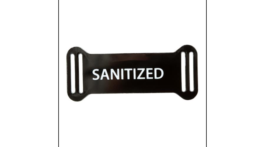 Sanitized: Reusable Frame Tags Black /500Ea