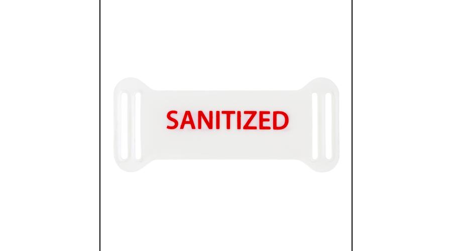 Sanitized: Reusable Frame Tags White /500Ea
