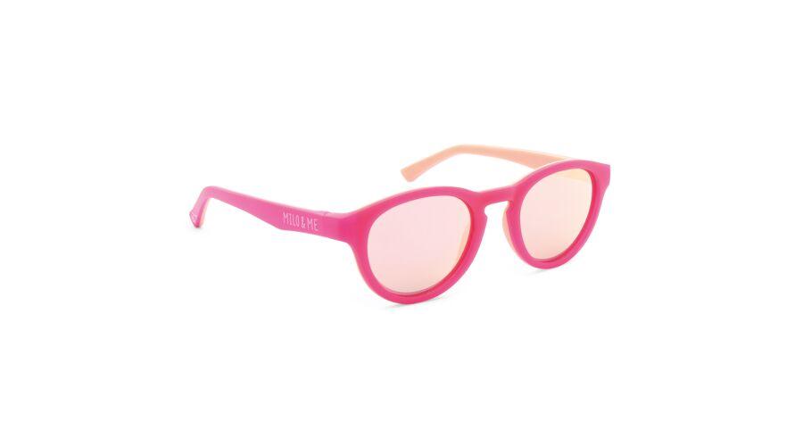 Sun Milo & Me 84040 Pink/peach Polarized Rosegold Mirror 44-