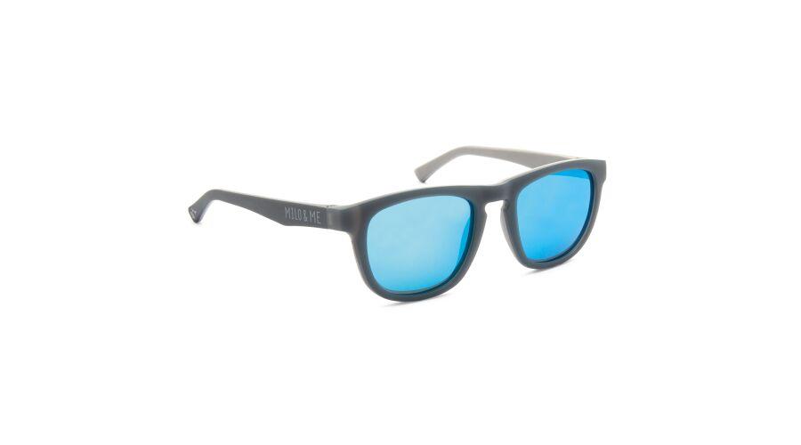 Sun Milo & Me 84050 Grey/lt Grey Polarized Blue Mirror 45-18