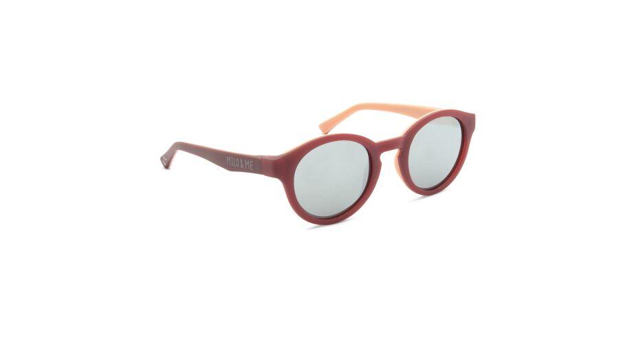 Sun Milo & Me 84060 Dusky Pink/peach Polarized Silver Mirror 43-20