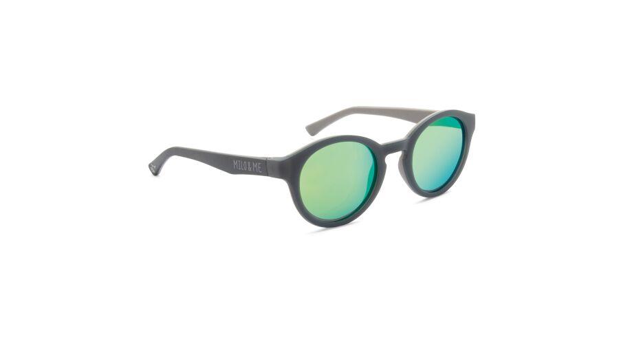Sun Milo & Me 84060 Grey/lt Grey Polarized Green Mirror 43-2
