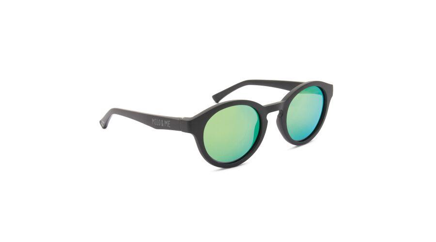 Sun Milo & Me 84061 Black/black Polarized Green Mirror 45-21