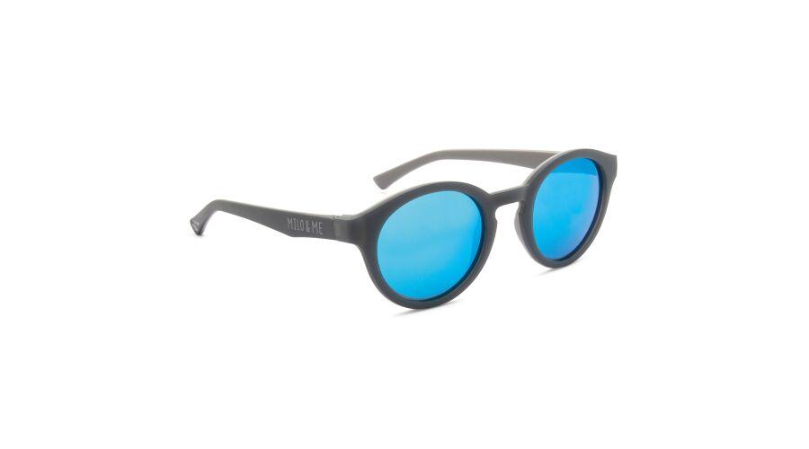 Sun Milo & Me 84061 Grey/lt Grey Polarized Blue Mirror 45-21