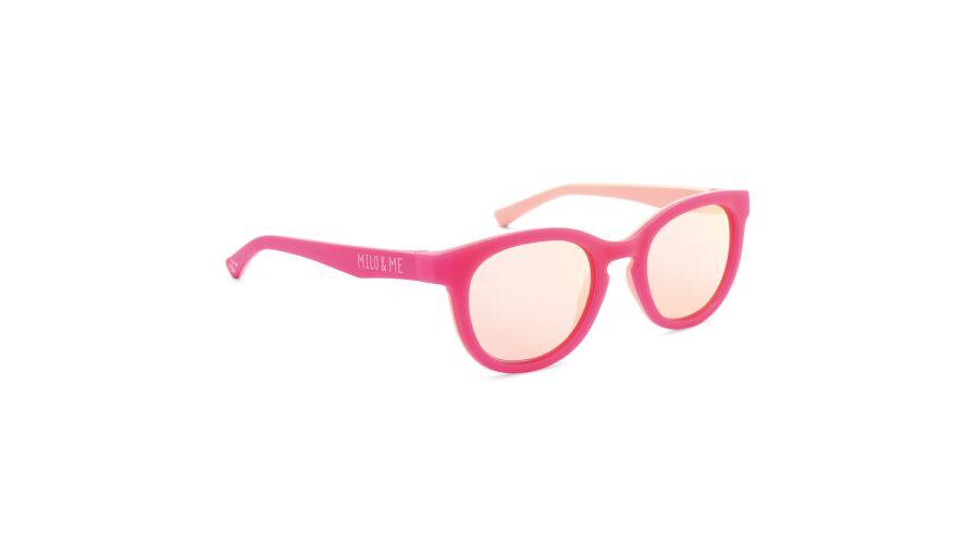 Sun Milo & Me 84070 Pink/peach Polarized Rosegold Mirror 44-