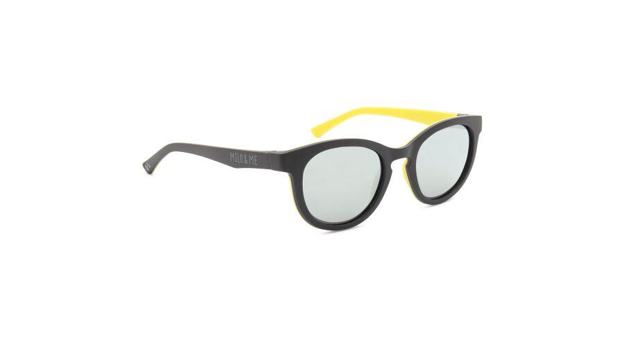 Sun Milo & Me 84071 Black/ Yellow Polarized Silver Mirror 46-19