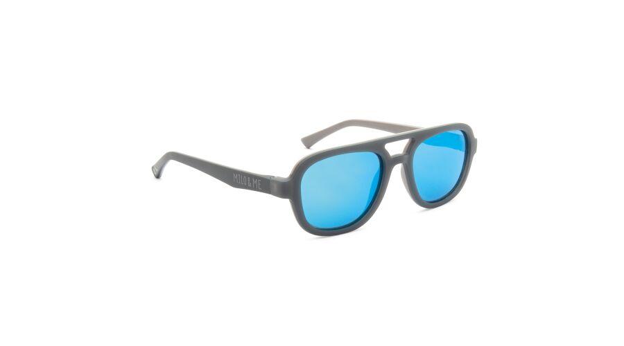 Sun Milo & Me 84081 Grey/lt Grey Polarized Blue Mirror 48-17