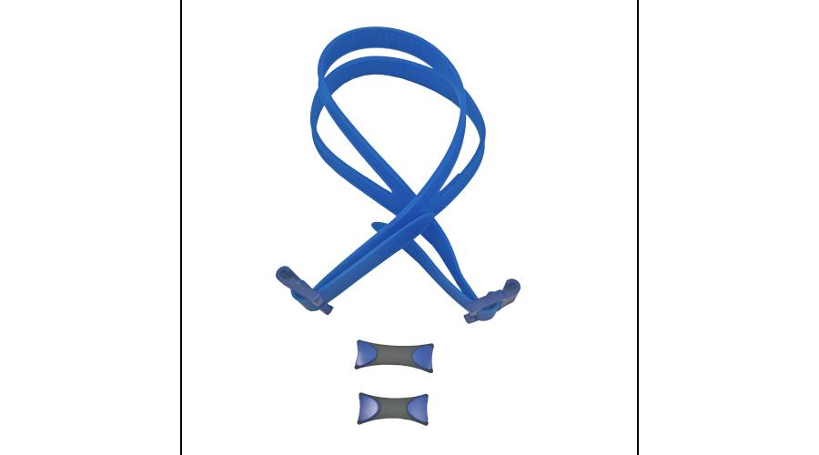 VANTAGE GOGGLE HEAD STRAP W/2 NOSE BRIDGES, BLUE